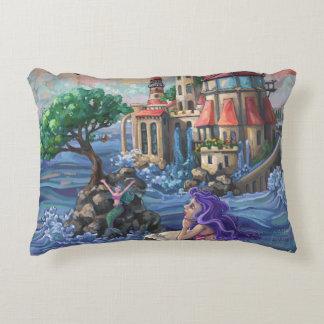 Mermaid Castle Accent Pillow