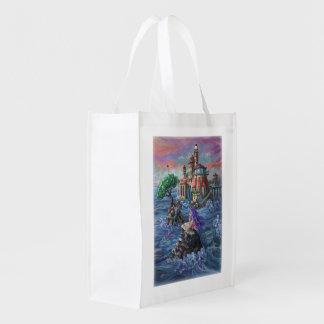 Mermaid Castle Grocery Bag