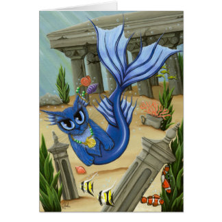 Mermaid Cat Atlantis Mercat Fantasy Art Card
