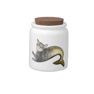Mermaid Cat Candy Dishes