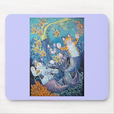 Beach Themed MERMAID CATS MOUSE PAD