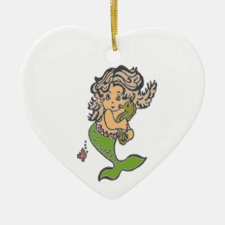 Mermaid Ceramic Ornament