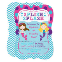 Mermaid Chevron Birthday Card