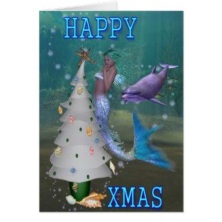 Mermaids Christmas Cards - Invitations, Greeting & Photo Cards ...