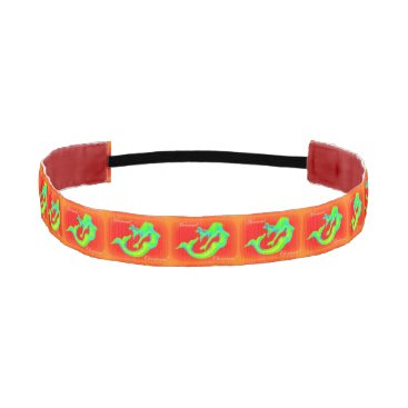 Beach Themed mermaid christmas red athletic headband