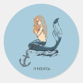 Mermaid Classic Round Sticker
