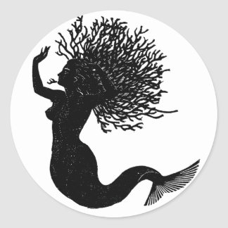 Mermaid Classic Round Sticker