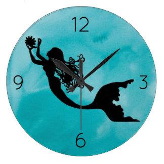 Mermaid Clock - blue