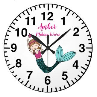 Mermaid Clock personalised name choose mermaid