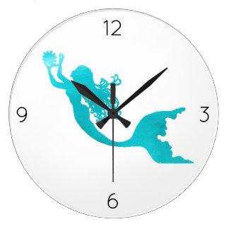 Mermaid Clock - white