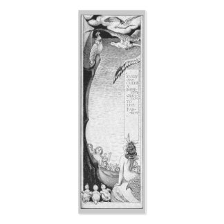 Mermaid, Cockatoo and Seagulls Mini Business Card