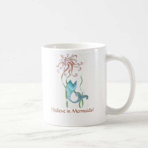 Mermaid coffee cup classic white coffee mug