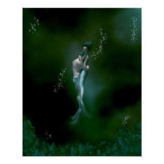 Mermaid Couple Poster