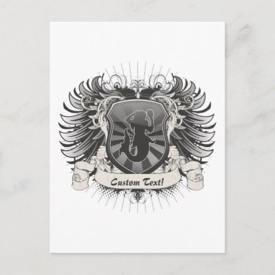 Mermaid Crest Postcards from Zazzle.