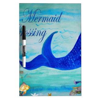 Mermaid Crossing Dry Erase Whiteboards