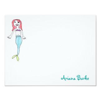 Mermaid Custom Stationery Notecards