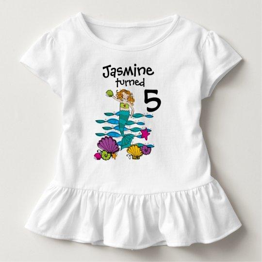 4e0f6578b Mermaid Customizable Birthday T-shirt | Zazzle.com