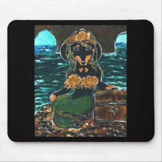 Mermaid Dachshund Mouse Pad