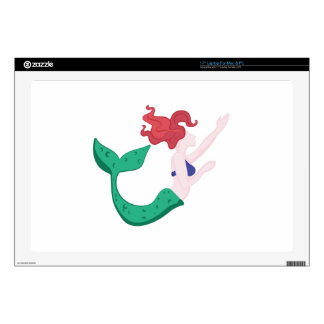 "Mermaid Decal For 17"" Laptop"
