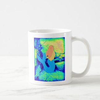 mermaid design coffee mug