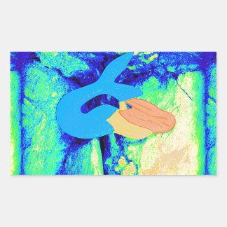 mermaid design rectangular sticker