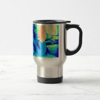 mermaid design travel mug