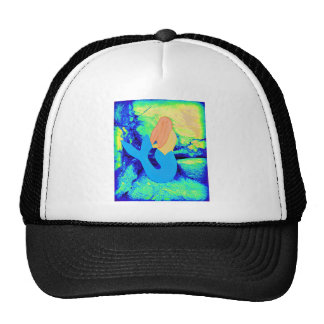 mermaid design trucker hat