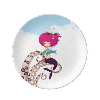 mermaid dinner plate
