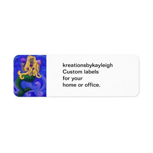 Mermaid Diva Label