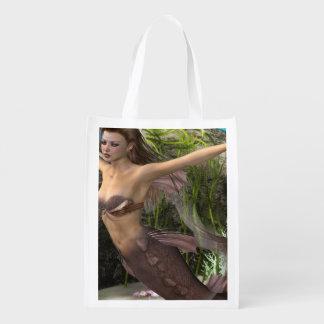 Mermaid Diva Reusable Grocery Bags