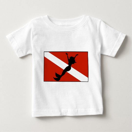 Mermaid Diver Flag Baby T-Shirt