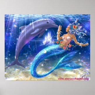 Mermaid/Dolphin Poster