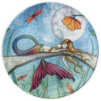 Mermaid Dragonfly Fantasy Art Collectors Plate