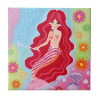 Mermaid Dream painting Ceramic Tile
