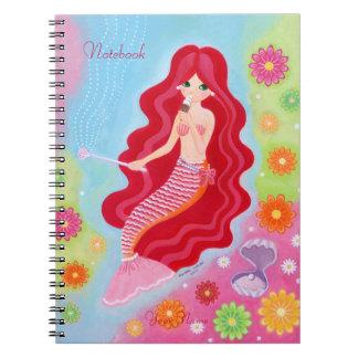 Mermaid Dream painting Spiral Note Book