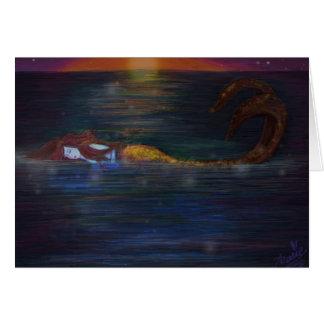 Mermaid Dreams Birthday Greeting Card