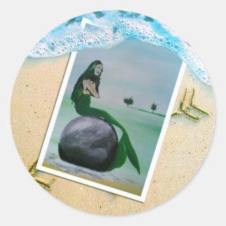 Mermaid Dreams Classic Round Sticker