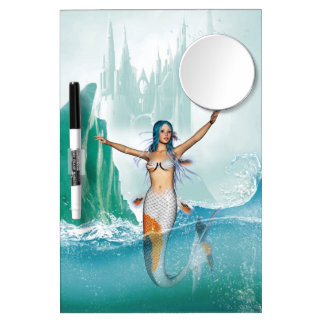 Mermaid Dry Erase Board With Mirror