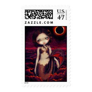 """Mermaid Eclipse"" Stamp"