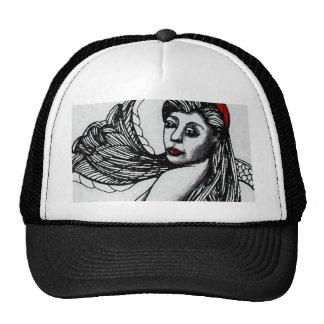 Mermaid Elise Black & W  CricketDiane Art & Design Trucker Hat