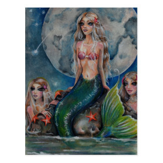 Mermaid Evening Post Cards