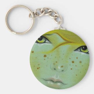Mermaid face freckles Keychain