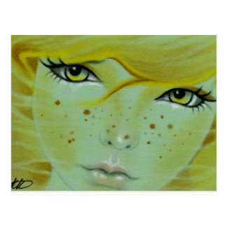 Mermaid face freckles Postcard