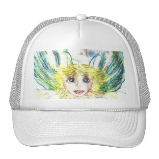 Mermaid Fairy Angel, Moon and Star Trucker Hat