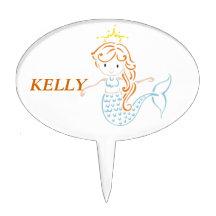 Mermaid Fairy Cake Topper