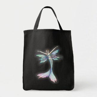 Mermaid Fairy Grocery Tote Bag by Molly Harrison