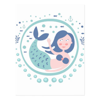 Mermaid Fairy Tale Character Postcard