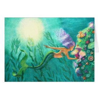 Mermaid fantasy art greeting card Beautiful Sea