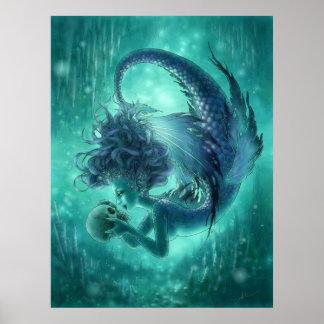 Mermaid Fantasy Art Print - Secret Kisses
