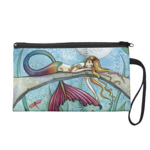 Mermaid Fantasy Art Wrist Clutch Bag Purse Wristlet